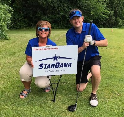 Denise and Craig at the Star Bank sponsored hole