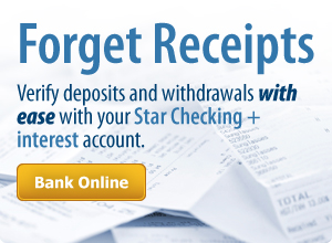 Forget about receipts and start banking online