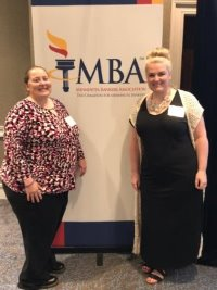 Brenda and Alissa at a MBA Women's conference