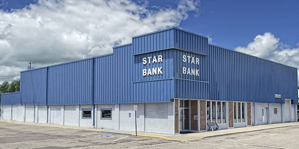 Star Bank office in Bertha