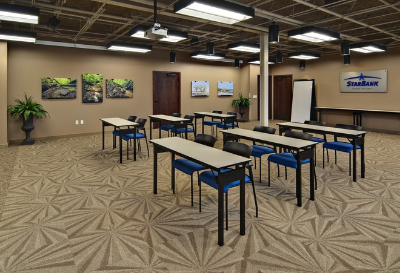 A meeting room inside the Eden Prairie Star Bank office