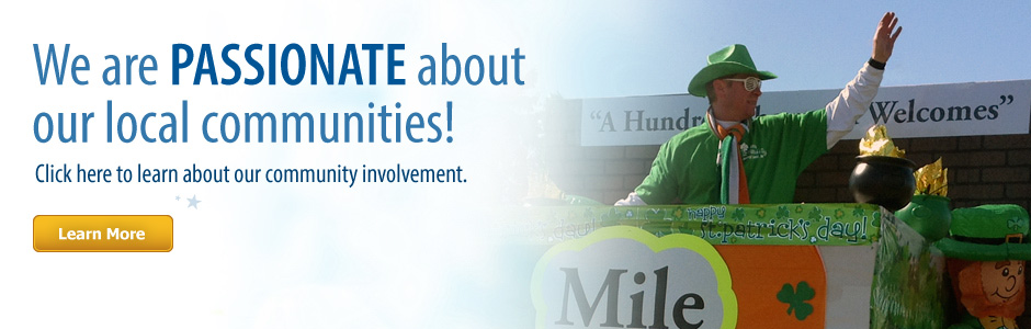 Click here to learn about our community involvement