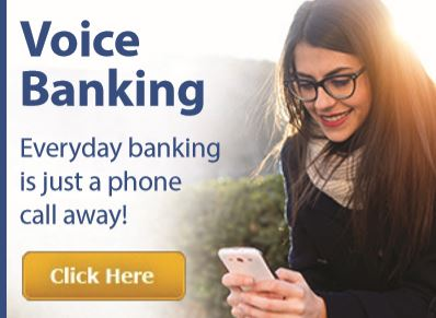 Everyday banking is just a phone call away with Voice Banking.