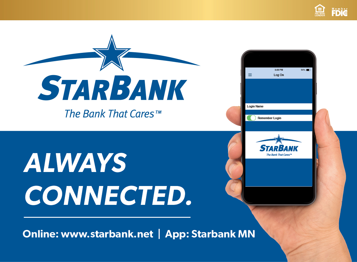 Always Connected with the Star Bank Mobile App.