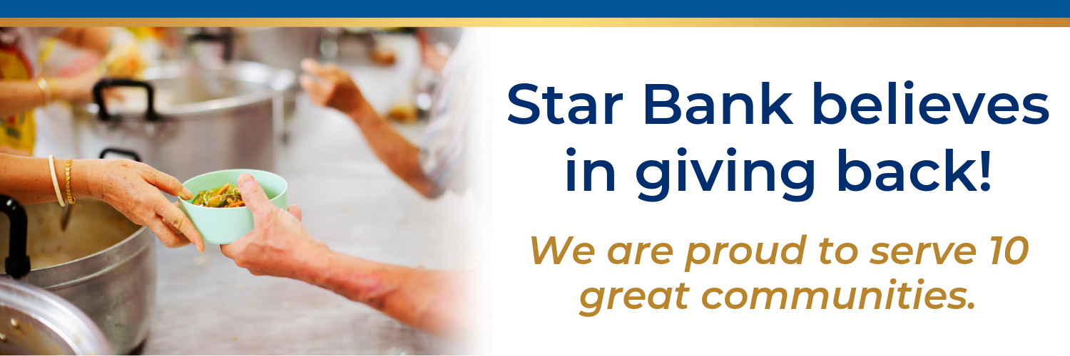 Star Bank believes in giving back.