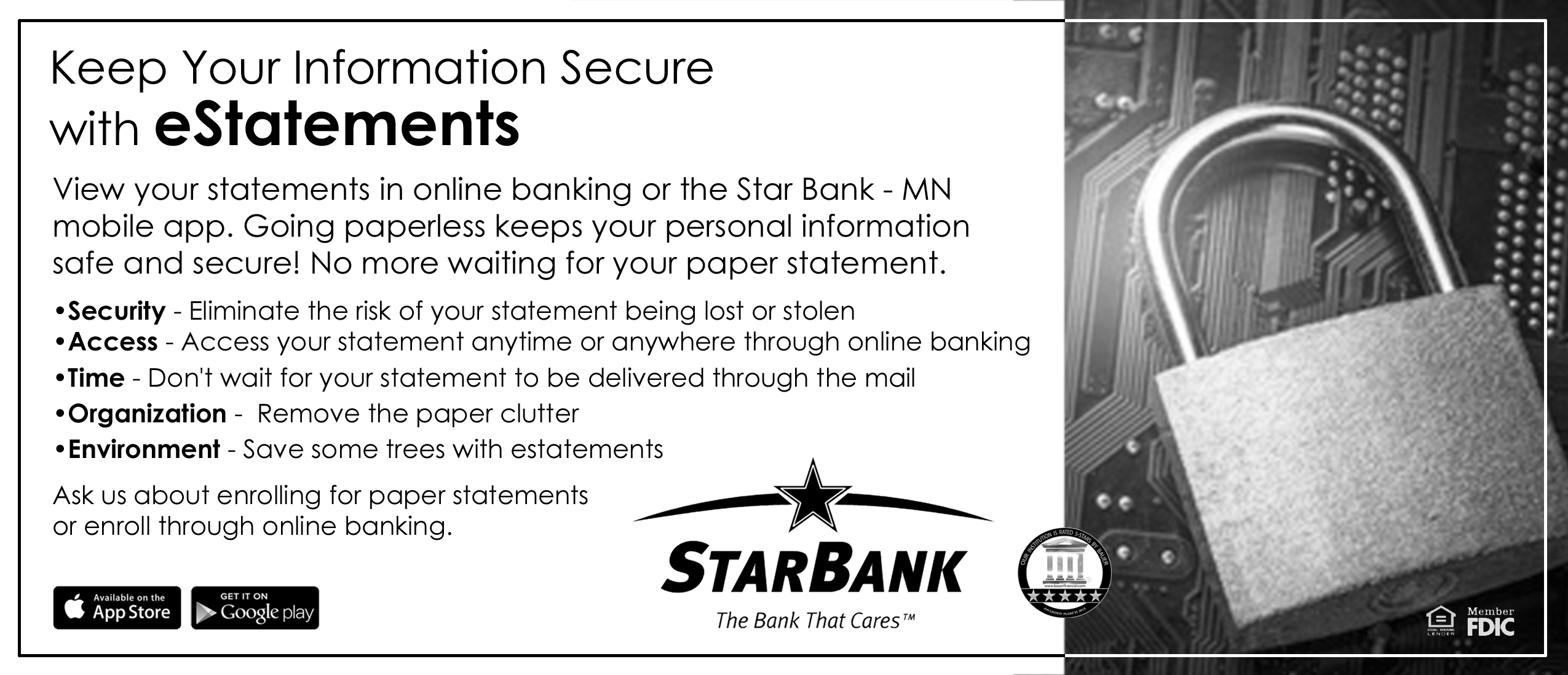 Online Banking Bill Pay And Estatements Information Star Bank